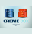 blue and red cosmetic creme box vector image