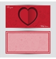 Card with red heart and love symbol vector image