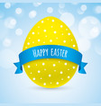 colorful easter greeting card design vector image
