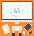 Flat design concept web Digital Marketing trendy vector image