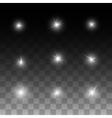 Glow shine stars vector image