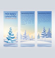 greeting holidays vertical banners vector image