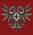 hand drawn heraldic eagle vector image