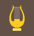 harp or lyre flat design vector image