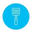Kitchen spatula line icon vector image