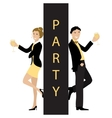 Party concept line cartoon style vector image