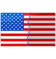 USA divided and stitched vector image vector image