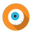 Halloween eyeball icon flat vector image