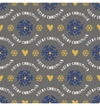 Trendy Christmas seamless pattern Hand-drawn blue vector image