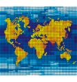 pixel world map vector image vector image