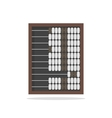 Traditional wooden abacus isolated on white vector image vector image