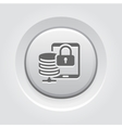 Mobile Secure Storage Icon Flat Design vector image vector image
