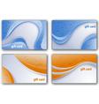 beautiful gift card set vector image