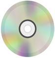 CD or DVD disc icon vector image