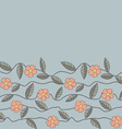 Floral pattern Seamless doodle flowers vector image