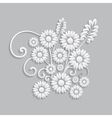 Flowers and floral elements cut from paper vector image