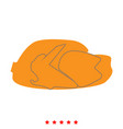 fried chicken dish icon flat style vector image