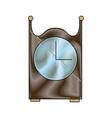 vintage clock decoration wooden image vector image