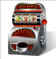 vintage slot machine vector image