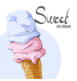 Refreshing ice cream vector image