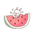 Eating water melon vector image vector image