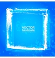 Blue grunge frame from textured brush strokes vector image vector image
