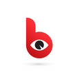letter b eye logo icon design template elements vector image
