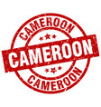 cameroon red round grunge stamp vector image