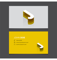 business card letter J vector image