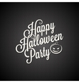 halloween party vintage lettering background vector image