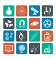 Silhouette Science and Education Icons vector image