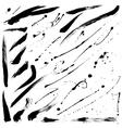 Splatter brushes and Brush Strokes vector image