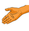 simple hand vector image vector image