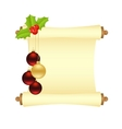 Christmas manuscript isolated vector image vector image