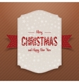 Christmas realistic big white Banner Template vector image vector image