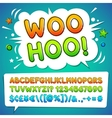 Comic Colorful Font vector image
