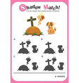 Game template for shadow matching dogs vector image