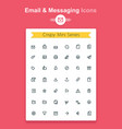 line email and messaging app tiny icon set vector image vector image