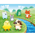 Baby Pets Background vector image