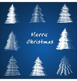 Christmas tree collection vector image