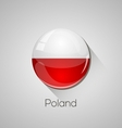 European flags set - Poland vector image