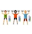 gym logo design template sport athletics vector image