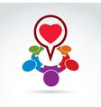 Heart and society icon medical organization vector image