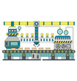 industrial conveyor belt line flat vector image