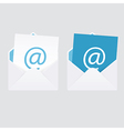 Set of 2 abstract e-mail envelope icons vector image