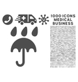 Rain Protection Icon with 1000 Medical Business vector image