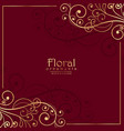 floral ornamental decoration on red background vector image