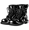 Black boots vector image vector image