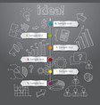 Timeline idea generation concept background vector image