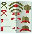 set of ribbons and badges vector image